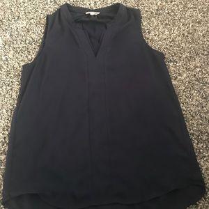 Women's pleione navy blue blouse